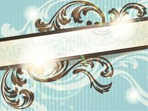 Horizontal vintage French retro banner Royalty Free Stock Photography