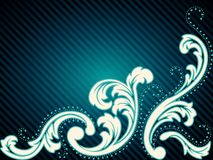 Horizontal vintage rococo background vector illustration