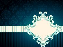 Horizontal vintage rococo label Stock Images