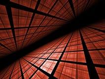 Horizontal virtuel de réseau - illustration de fractale illustration stock