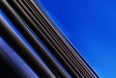 Horizontal vivid blue abstraction lines business background back. Drop diagonal medium format vibrant bright color composition design concept element object royalty free stock image