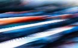 Horizontal vivid blue red cube pixel diagonal abstraction Stock Photo