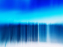 Horizontal vivid blue winter fence abstraction Stock Image