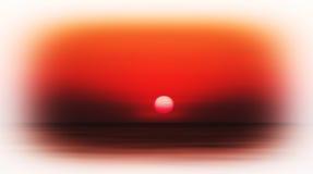 Horizontal vivid burning red sunset in ocean Royalty Free Stock Image