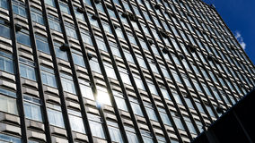 Horizontal vivid business skyscraper background Stock Photos