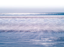 Horizontal vivid milk ocean tidal waves Royalty Free Stock Image