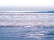 Horizontal vivid milk ocean tidal waves Royalty Free Stock Image