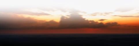 Horizontal vivid orange motion abstraction sunset Royalty Free Stock Photos