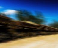 Horizontal vivid railway carriage motion abstraction Royalty Free Stock Photos
