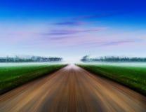Horizontal vivid road to success landscape abstraction backgroun Royalty Free Stock Photos