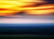 Horizontal vivid sunset landscape blurred abstraction Stock Image