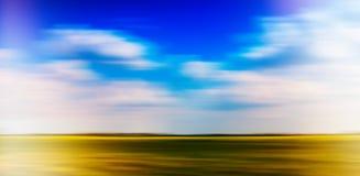 Horizontal vivid vibrant simple minimal landscape Stock Photos