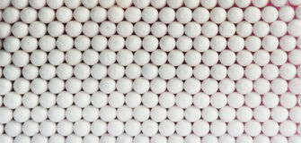 Horizontal  vivid white ball spheres business medicine Royalty Free Stock Photo