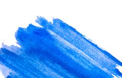 Horizontal watercolor background. Blue watercolour texture. Rectangular photo Royalty Free Stock Images