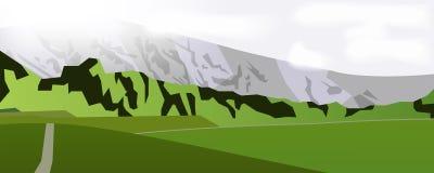 Horizontal web banner mountain landscape Royalty Free Stock Photos