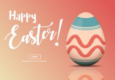 Horizontal Web Banners with Easter Concept royalty free stock photos