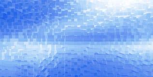 Horizontal white cubes presentation abstract background Stock Image