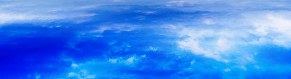 Horizontal wide panorama blue vivid above cloudscape background royalty free illustration