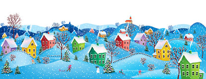 Horizontal winter banner Stock Images