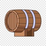 Horizontal wooden barrel icon, cartoon style. Horizontal wooden barrel icon. Cartoon illustration of horizontal wooden barrel vector icon for web design vector illustration