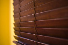 Horizontal wooden blinds Royalty Free Stock Images