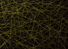 Horizontale Überfahrt von gelben Linien auf schwarzem Hintergrund lizenzfreie abbildung