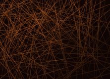 Horizontale Überfahrt von orange Linien auf schwarzem Hintergrund stock abbildung