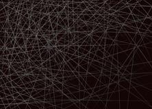 Horizontale Überfahrt von weißen Linien auf schwarzem Hintergrund stock abbildung