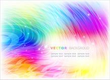 Horizontale abstracte kleurrijke achtergrond. Stock Afbeeldingen