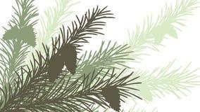Horizontale abstrakte Illustration des Fichtenzweigs. Lizenzfreie Stockbilder