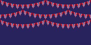 Horizontale achtergrond met slinger met nationale vlag van Noorwegen Patriottische illustratie aan Onafhankelijkheidsdag van Noor royalty-vrije illustratie