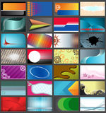 Horizontale adreskaartjes â Stock Afbeeldingen
