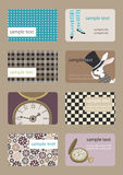 Horizontale Adreskaartjes Royalty-vrije Stock Fotografie