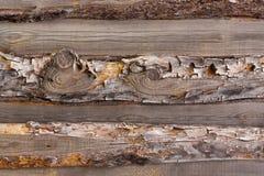 Horizontale alte hölzerne Planke Stockbilder