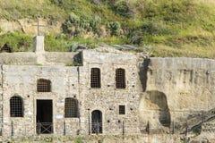 Horizontale Ansicht der Kirche von Piedigrotta, Kalabrien, Italya Lizenzfreies Stockbild