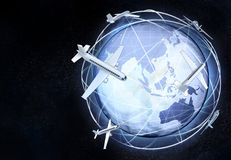 Horizontale Asien-Erdkugelansicht vom kosmischen Raum Lizenzfreie Stockbilder