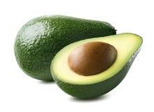 Horizontale avocado geïsoleerd op witte achtergrond Royalty-vrije Stock Afbeeldingen