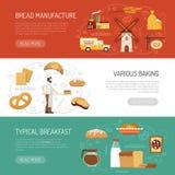 Horizontale Bäckerei-Fahnen Lizenzfreie Stockfotografie