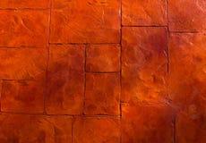 Horizontale Beschaffenheit des orange Steinbodens Lizenzfreie Stockfotografie