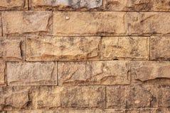 Horizontale bruine baksteen Stock Afbeeldingen