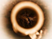 Horizontale bruine kop van de bezinning van koffiebomen Stock Afbeelding