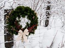 Horizontale de Kroon van de Kerstmisprovincie Royalty-vrije Stock Foto