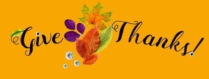 Horizontale dekking voor Gelukkige Dankzeggingsplaats vector illustratie