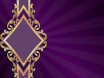 Horizontale diamantvormige purpere banner Stock Afbeelding