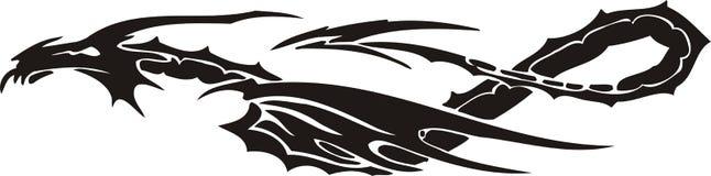 Horizontale Draken. Stock Foto's