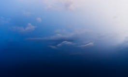 Horizontale dramatische wolk Stock Foto