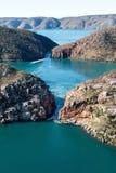 Horizontale Fälle, Kimberley, West-Australien, Australien lizenzfreie stockfotos