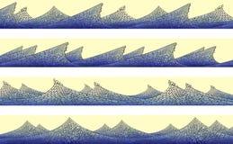 Horizontale Fahne: Mosaik der Welle mit Schaumgummi. lizenzfreie abbildung