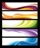 Horizontale Fahnen-Ansammlung lizenzfreie abbildung