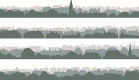 Horizontale Fahnen der großen europäischen Stadt Lizenzfreies Stockfoto